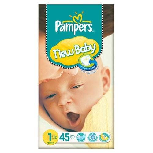 Pampers New Baby Size 1 (2-5kg) Essential Pack Newborn 3x45 per pack by Pampers