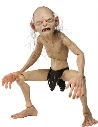 Neca - Lord Of The Rings, Gollum & Smeagol: Gollum, figura 1/4 (NEC0NC30487)