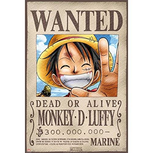 ABYstyle - Poster Wanted Luffy de 38 x 8 x 8 cm (ABYDCO144)