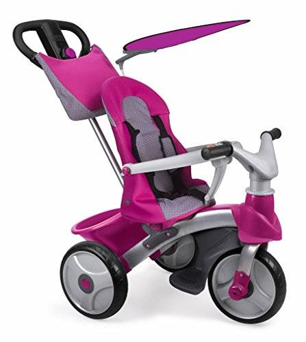 Feber - Baby Trike Easy Evolution, triciclo, color rosa (Famosa 800009561)