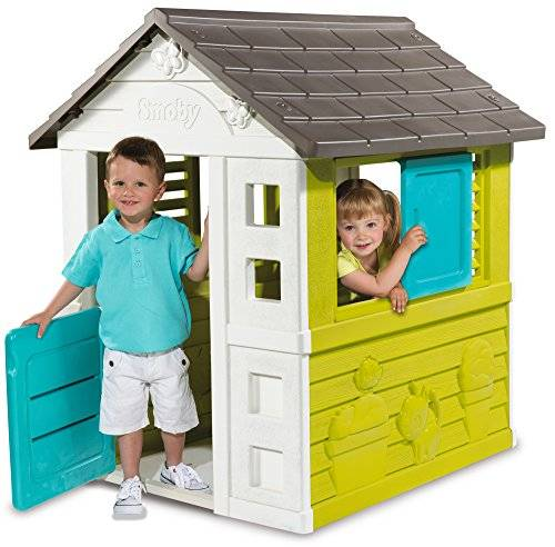 Smoby - Casa Pretty House, color verde / gris / blanco / azul ( 310064)