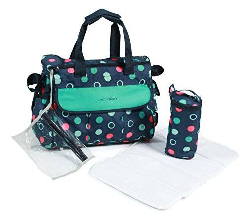 Chic4Baby Wickeltasche Luxury Menta
