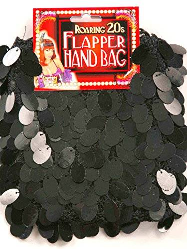 fancy dress warehouse Black Flapper Handbag Fancy Dress
