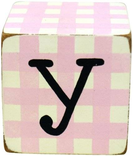 New Arrivals Letter Block Y, rosa/blanco