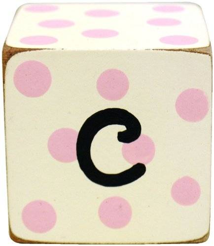 New Arrivals Letter Block C, Pink/White by New Arrivals