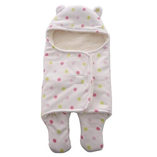 ECYC® Baby Swaddle Wrap Warm Soft Villus ReciéN Nacido Baby Sleeping Bag, Rosa