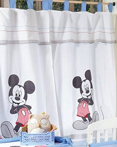Baby Bedding Design Blue Mickey Mouse Dance 2 Curtains