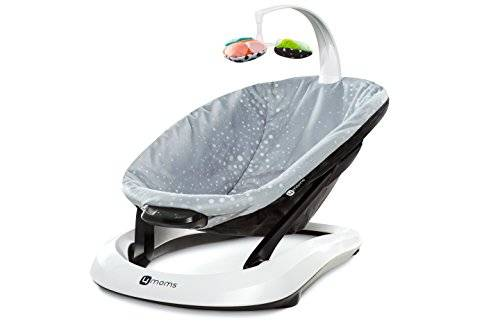 4Moms bounceRoo Bouncer Seat, Silver Plush by 4moms