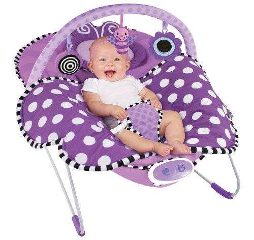 Sassy Cuddle Bug Bouncer, Violet Butterfly by Sassy