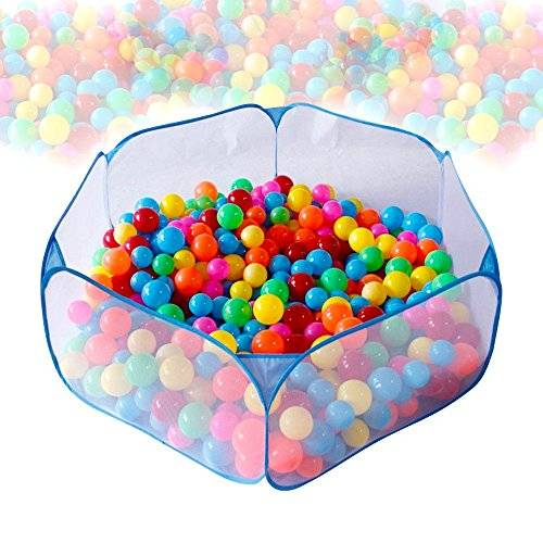 SKL Pop Up Ball Pool Foldable Play Pit Pool for Kids, Balls Not Included (47 * 23 Inch) (Blue)