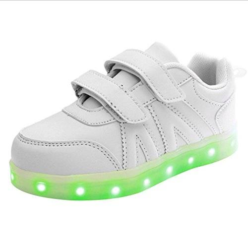 iBaste NEW 2016 LED niños brillo zapatos infantil talla 25-34