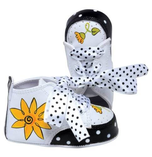 Lil'Tootsies Lil Tootsies Hand-Painted Baby Shoes, Daisy, 3 - 6 Months by Lil' Tootsies