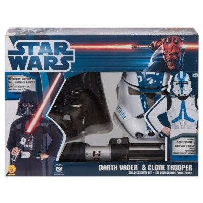 Rubies Star Wars - Pack Disfraces Darth Vader y Clone Trooper, 5-7 años (Rubies 37013)