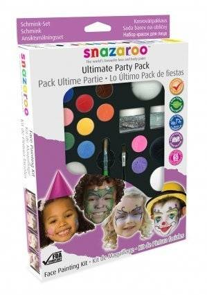 Snazaroo Ultimate Party Pack Face + Body Paint Painting Kit Makes 65+ Faces by Snazaroo