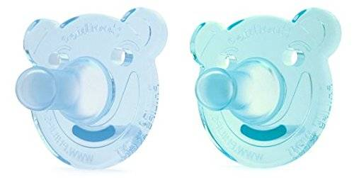 Philips AVENT Soothie Bear Shape Pacifier, Green/Blue, 0-3 Months, 2 Count by Philips AVENT