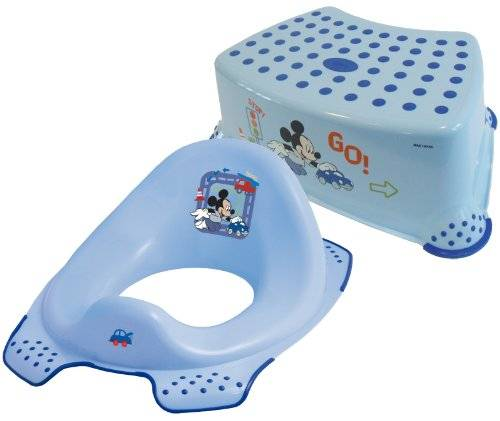 Disney Mickey Mouse Toddler Toilet Training Seat & Step Stool Combo - Blue