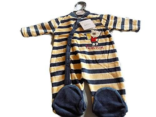 Nursery Time Bebé todo en uno – Racing Team Color Beige y azul marino Beige & Navy Talla:0-3 meses