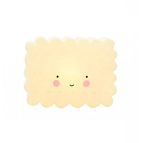 A LITTLE LOVELY COMPANY - Mini lamparita: galleta color amarillo - ALLC-LTCO058