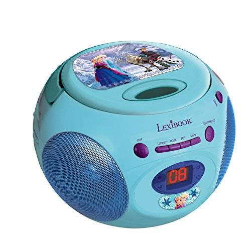 Disney Frozen - Reproductor de CD, color azul / verde (Lexibook RCD102FZ)