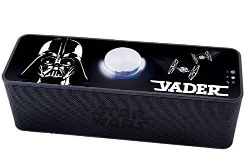 Star Wars - Altavoz portátil con Bluetooth, color Negro (Lexibook BT500SW)