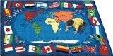 Joy Carpets Kid Essentials Geography & Environment Flags of The World Rug, Multicolored, 5'4 x 7'8 by Joy Carpets