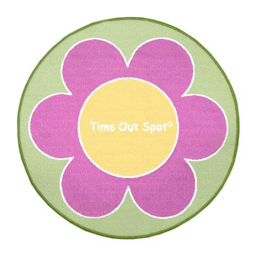 Child to Cherish Time Out Spot Rug, Flower by Child to Cherish