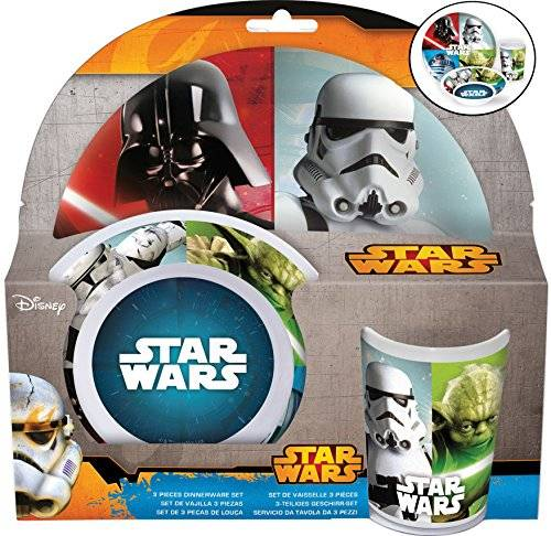 Star Wars - Set 3 piezas, melamina (Stor 56790)