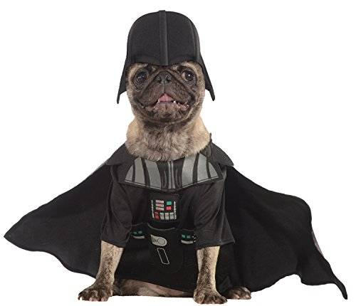 Star Wars - Disfraz Darth Vader para mascota, S (Rubie's Spain 887852-S)
