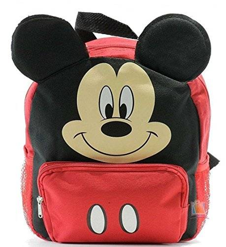 Disney Nueva Mickey Mouse Club House 3D Ears Small Toddler Backpack-8680