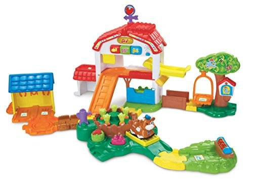 Vtech - Toot Toot Animals - Farm - Maxi Ferme Des Découvertes + Vache Tut Tut Animo Version Anglaise