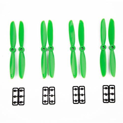 PRiME 4 Pair 5045 Propeller Props CW CCW for Mini Multirotor Quadcopter QAV250 280 300 plástico green, by LC Prime
