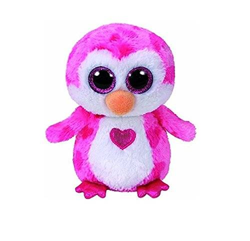 TY - Juliet Peluche pingüino, color rosa, 15 cm (United Labels Ibérica 36865TY)