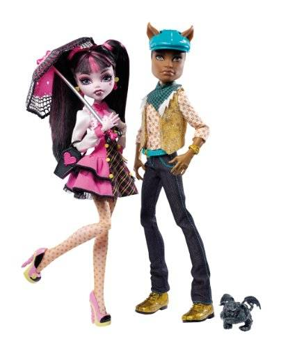 Monster Cable High - Draculaura y Clawd Wolf (Mattel V7961 )