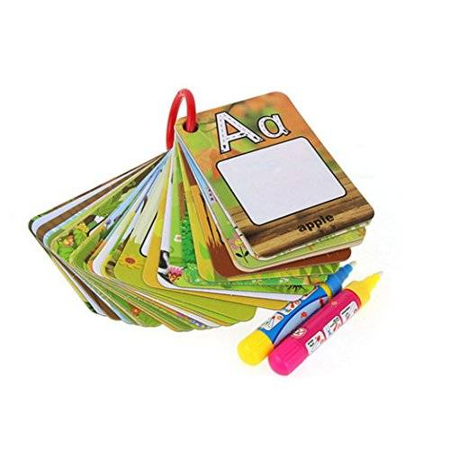 Oyedens Juguetes y juegos Lectura y escritura, Oyedens 26 Letters Children Water Painting Board Painted The Coloured Drawing Pattern