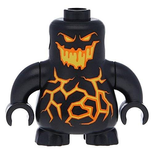 Lego Body Nexo Knights Scurrier with Black Arms Orange Black