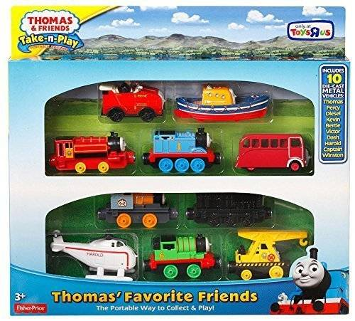 Mattel Fisher Price - Thomas y sus Amigos - Pack 10 Locomotoras