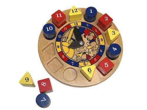 Holgate HZ901 Hickory Dickory Toy Wooden Clock