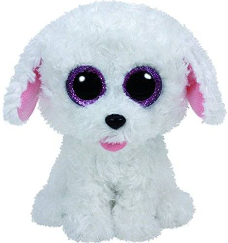 TY - Beanie Boos Pippie, caniche, 15 cm, color blanco (United Labels Ibérica 37175TY)
