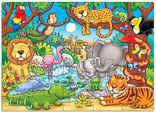 Orchard_Toys Orchad Toys 216 - Puzzle Who's in the jungle? (25 piezas, idioma inglés)