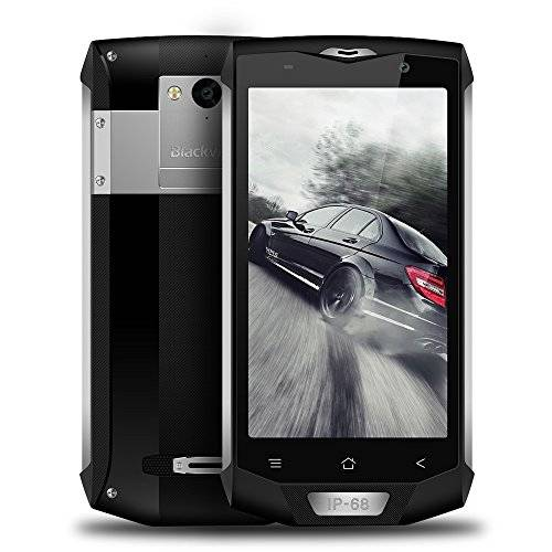 """Blackview Smartphone Desbloqueado IP68 Blackview BV8000 Pro 4G Moviles Libres 5.0"""" FHD - Android 7.0 - Octa-Core - 6GB RAM + 64GB ROM - 8MP & 16MP Cámara - 4000mAh Batería Fast-Charge, Dual SIM Smartphone Impermeable IP68 Smartphone Android 4g NFC OTG-Plata"""
