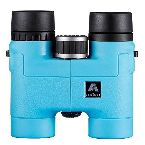 BNISE - Asika 8x32 HD Binoculars - Military Telescope for Hunting and Travel - Compact Folding Pocket Size - High Clear Vision (8x32, Blue)