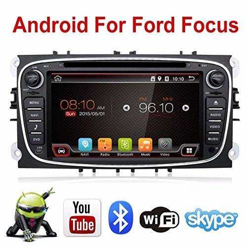 KC Navigation Pantalla táctil con Quad-Core Android 6.0, 2G Ram, 32G Rom, WiFi, modelo 7. Incluye reproductor DVD y CD, GPS, 2 Din estéreo, cámara trasera, Canbus, soporte de color negro, Bluetooth/OBD/DAB/Subwoofer/SD/USB/FM/AM/RDS