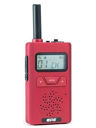 CPS TELECOM LIMITED CPS CP183 Tiny and Slim Walkie Talkie PMR446 Two Way Radio (Red) (1 Piece)