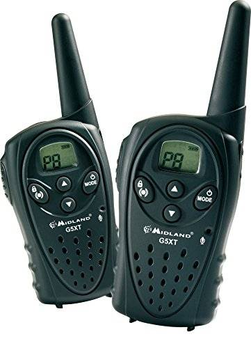 Midland G5 XT 24channels 446.00625-446.09375MHz two-way radios - Walkie-Talkie (24 canales, 446.00625-446.09375, 12000 m, LCD, AAA, Níquel-metal hidruro (NiMH))