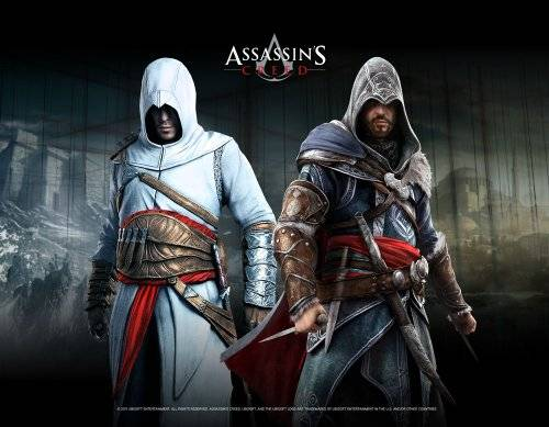 Gaya Entertainment GmbH Assassins Creed Wallscroll Altair & Ezio Blackroom [Importación alemana]