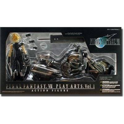 Square-Enix Final Fantasy VII Cloud Strife & Hardy Daytona Action Figure Deluxe Set (japan import)