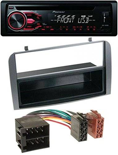 Pioneer CD MP3 USB AUX Radio de coche para Alfa Romeo 147, GT – Estante Antracita
