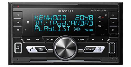Kenwood Electronics DPX-M3100BT 50W Bluetooth Negro receptor multimedia para coche - Radio para coche (FM,LW,MW, 87,5-108 MHz, MOSFET, 3 líneas, LCD, Negro)