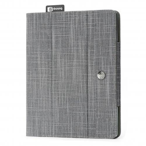 Booq Folio Gray. Funda para iPad 2/3 con Smart Cover integral. Acabado fibras naturales. Gris