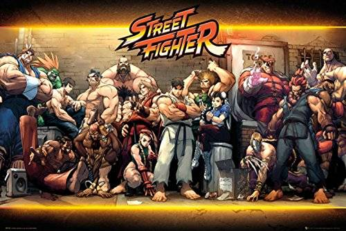 Grupo Erik Editores   Poster Street Fighter Characters